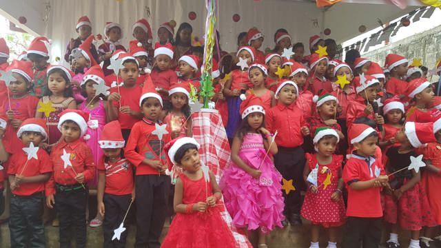 School children performing a Christmas concert