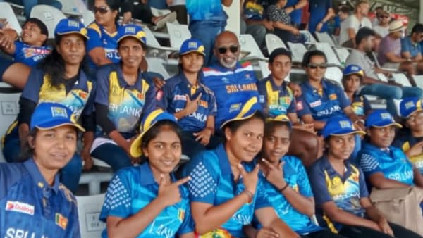 Group of girls at the cricket